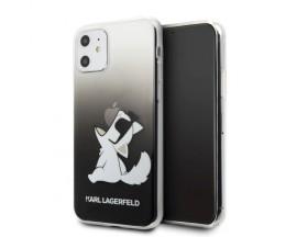Husa Originala Karl Lagerfeld iPhone 11, Colectia Choupette Fun, Negru - KLHCN61CFNRCBK