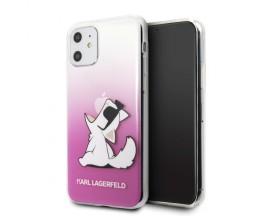 Husa Originala Karl Lagerfeld iPhone 11, Colectia Choupette Fun, Roz - KLHCN61CFNRCPI