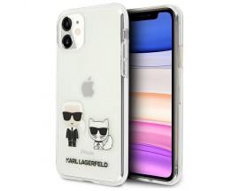 Husa Originala Karl Lagerfeld iPhone 11, Colectia Karl & Choupette, Transparenta - KLHCN61CKTR