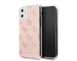 Husa Premium Guess Glitter iPhone 11 Roz Gold, Silicon - GUHCN61PCU4GLPI