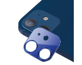 Protectie Camera Usams Metal si Sticla Securizata Pentru iPhone 12 Mini - Albastru