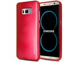 Husa Spate Goospery I-jelly Metal Samsung S8 Plus G955 Rosu