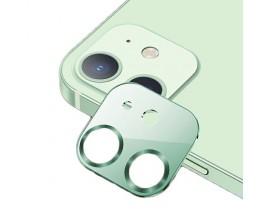 Protectie Camera Usams Metal si Sticla Securizata Pentru iPhone 12 Mini - Verde