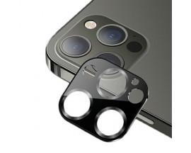 Protectie Camera Usams Metal si Sticla Securizata Pentru iPhone 12 Pro Max - Negru
