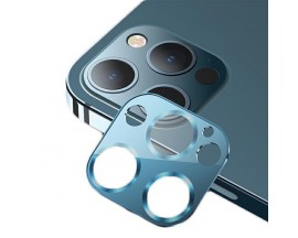 Protectie Camera Usams Metal si Sticla Securizata Pentru iPhone 12 Pro Max - Albastru