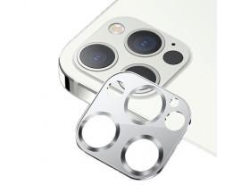 Protectie Camera Usams Metal si Sticla Securizata Pentru iPhone 12 Pro Max - Silver
