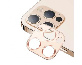 Protectie Camera Usams Metal si Sticla Securizata Pentru iPhone 12 Pro Max - Gold