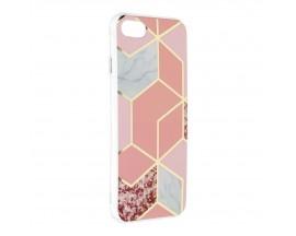 Husa Upzz Silicone Marble Cosmo Compatibila Cu iPhone 7 / 8 / SE 2, Model 2