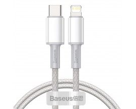 Cablu Premium Baseus Usb Type-C La Lightning Power Delivery Fast Charge 20W, 2M, Alb - CATLGD-A02