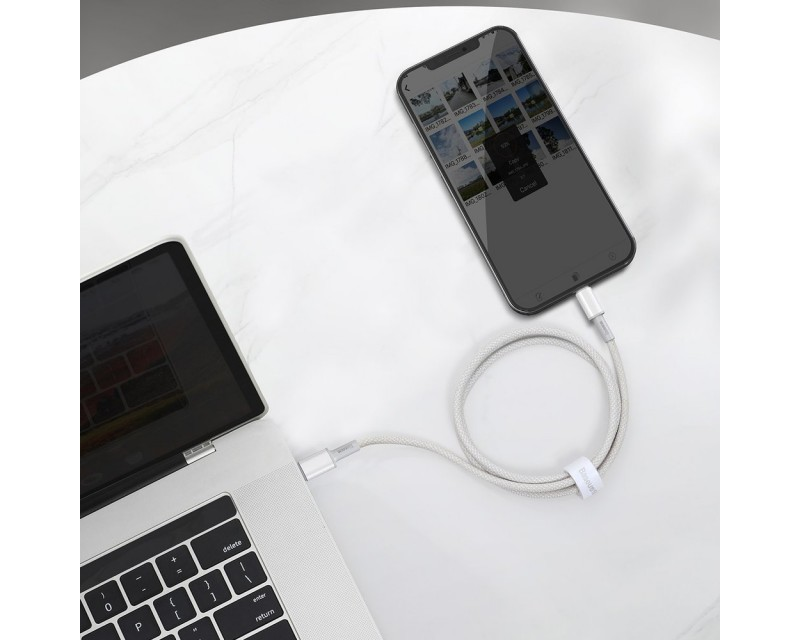 Cablu Premium Baseus Usb Type-c La Lightning Power Delivery Fast Charge  20w, 2m, Alb - Catlgd-a02 - Itelmobile.ro