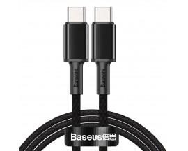 Cablu Premium Baseus Usb Type-C La Usb Type-C, Power Delivery 100W 5A, 1M Lungime - Negru - CATGD-01