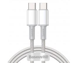 Cablu Premium Baseus Usb Type-C La Usb Type-C, Power Delivery 100W 5A, 1M Lungime, Alb - CATGD-02