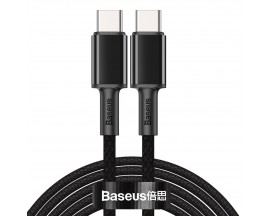 Cablu Premium Baseus Usb Type-C La Usb Type-C, Power Delivery 100W 5A, 2M Lungime - Negru - CATGD-A01