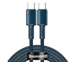 Cablu Premium Baseus Usb Type-C La Usb Type-C, Power Delivery 100W 5A, 2M Lungime, Albastru - CATGD-A03
