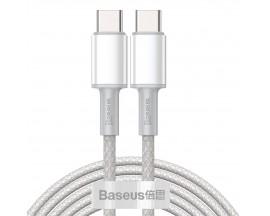 Cablu Premium Baseus Usb Type-C La Usb Type-C, Power Delivery 100W 5A, 2M Lungime, Alb - CATGD-A02