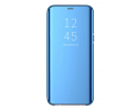 Husa Tip Carte Mirror Samsung Galaxy A50 Albastru Cu Folie Sticla Upzz Glass Inclusa In Pachet