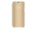 Husa Tip Carte Mirror Samsung Galaxy A50 Gold Cu Folie Sticla Upzz Glass Inclusa In Pachet
