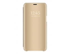 Husa Tip Carte Mirror Samsung Galaxy A10 Gold- Cu Folie Sticla Marca Upzz Inclusa
