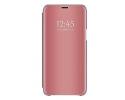 Husa Tip Carte Mirror Samsung Galaxy A50 Rose Gold Cu Folie Sticla Upzz Glass Inclusa In Pachet