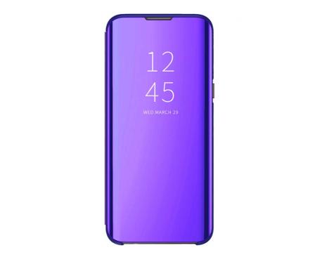 Husa Tip Carte Mirror Samsung Galaxy A9 2018, Mov
