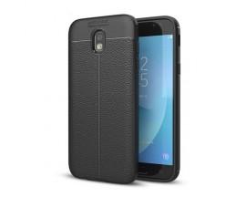 Husa Spate Slim Leather Model Pentru Samsaung Galaxy J5 2017, Negru