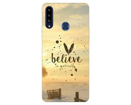 Husa Silicon Soft Upzz Print Samsung Galaxy A20s Model Believe