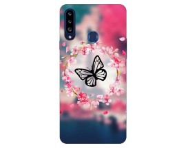 Husa Silicon Soft Upzz Print Samsung Galaxy A20s Model Butterfly