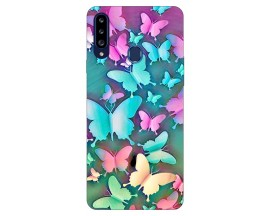 Husa Silicon Soft Upzz Print Samsung Galaxy A20s Model Colorful Butterflies