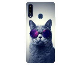 Husa Silicon Soft Upzz Print Samsung Galaxy A20s Model Cool Cat