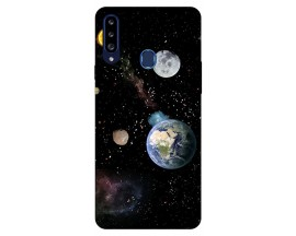 Husa Silicon Soft Upzz Print Samsung Galaxy A20s Model Earth