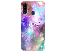 Husa Silicon Soft Upzz Print Samsung Galaxy A20s Model Neon Love