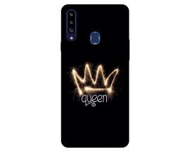Husa Silicon Soft Upzz Print Samsung Galaxy A20s Model Queen