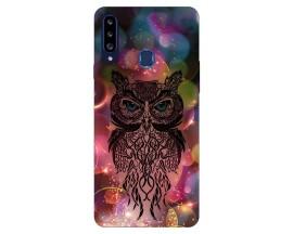 Husa Silicon Soft Upzz Print Samsung Galaxy A20s Model Sparkle Owl
