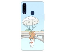 Husa Silicon Soft Upzz Print Samsung Galaxy A20s Model Three Bears