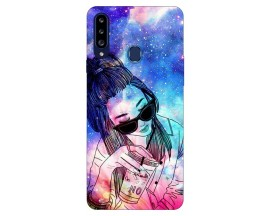 Husa Silicon Soft Upzz Print Samsung Galaxy A20s Model Universe Girl