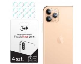 Set 4 Buc Folie Sticla Nano Glass Pentru Camera 3mk iPhone 11 Pro Max  Transparenta