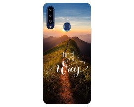 Husa Silicon Soft Upzz Print Samsung Galaxy A20s Model Way