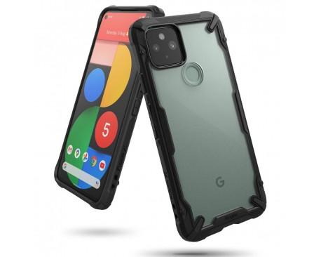 Husa Premium Ringke Fusion X Compatibila Cu Google Pixel 5, Transparenta Cu Margine Neagra
