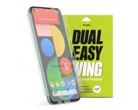 Folie Premium Full Cover Ringke Dual Easy Google Pixel 5, Transparenta -2 Bucati In Pachet