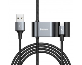 Cablu Date Premium Baseus Cu Prelungire De Porturi Pentru Bancheta Din Spate 2 x Usb, 1.5m, Lighning