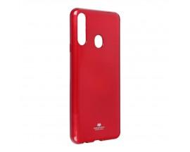 Husa Spate Jelly Case Mercury Goospery Metal Compatibila Cu Samsung Galaxy A20s, Silicon, Rosu