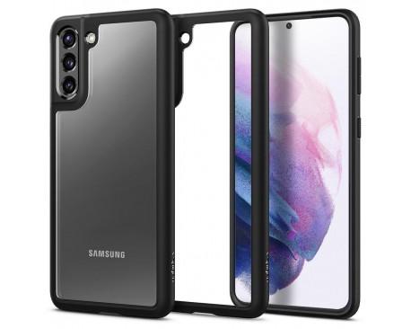 Husa Premium Spigen Ultra Hybrid  Pentru Samsung Galaxy S21 Plus, Transparenta Cu Magine Neagra