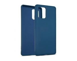 Husa Premium Upzz No Logo Soft Silicon Compatibila Cu Samsung Galaxy S10 Lite, Invelis Alcantara La Interior, Albastru
