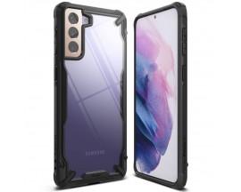 Husa Premium Ringke Fusion X Pentru Samsung Galaxy S21, Negru