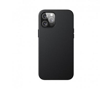 Husa Premium Piele Baseus Pentru iPhone 12 Pro Max Compatibila Cu MagSafe - Negru