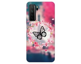 Husa Silicon Soft Upzz Print Huawei P40 Lite 5G Model Butterfly