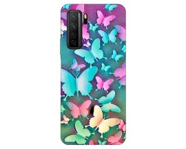 Husa Silicon Soft Upzz Print Huawei P40 Lite 5G Model Colorful Butterflies