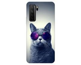 Husa Silicon Soft Upzz Print Huawei P40 Lite 5G Model Cool Cat