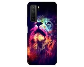 Husa Silicon Soft Upzz Print Huawei P40 Lite 5G Model Neon Lion