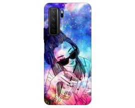 Husa Silicon Soft Upzz Print Huawei P40 Lite 5G Model Universe Girl